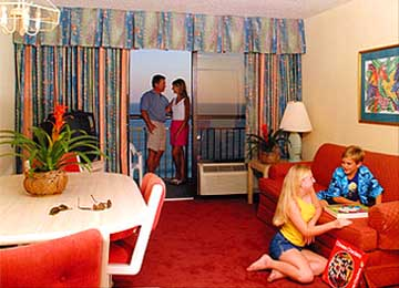 Guestroom at the Caravelle Resort in Myrtle Beach